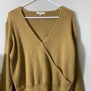 NWOT OLIVE GREEN MADEWELL SWEATER